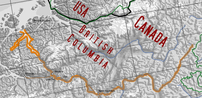 Skeena River Map