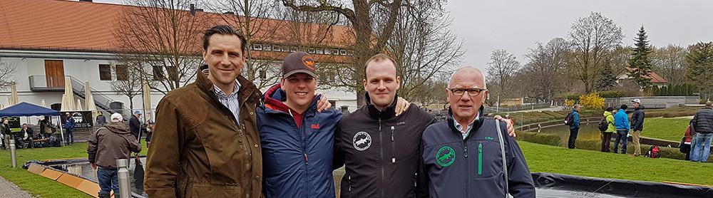 v.l. Alexander Sasse, Julius Kogel, Uwe Müller, Jakob Müller